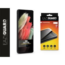 Eazyguard Samsung G998F Galaxy S21 Ultra gyémántüveg képernyővédő fólia - Diamond Glass 3D Fullcover - fekete mobiltelefon kellék