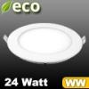 ECO LED panel (kör alakú) 24 Watt - meleg fehér fényű