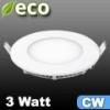ECO LED panel (kör alakú) 3 Watt - hideg fehér