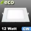 ECO LED panel (négyzet alakú) 12 Watt - hideg fehér fényű