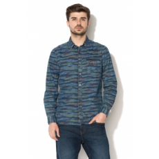 EDC by ESPRIT , Regular fit farmer hatású ing, Sötétkék, M (028CC2F001-400-M)