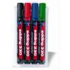 """EDDING Alkoholos marker készlet, 1-5 mm, vágott, EDDING """"330"""", 4 különböző szín"""