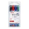 """EDDING Flipchart marker készlet, 1,5-3 mm, kúpos, EDDING \""""380\"""", 4 különböző szín [4 db]"""