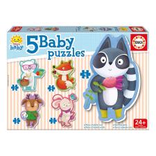 Educa Állatkás bébi puzzle, 5 az 1-ben 16816 puzzle, kirakós