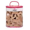 Edushape Wood-Like Soft Blocks Puha fa mintás 80 db-os építõkocka szett Edushape