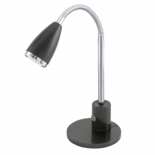 EGLO 92873 FOX íróasztali lámpa, antracit, króm színben, MAX 1X3W teljesítménnyel, GU10 foglalattal, billenő kapcsolóval, IP20 védettséggel ( EGLO 92873 ) világítás