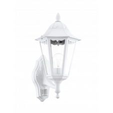 EGLO 93447 NAVEDO kültéri mozgásérzékelős fali lámpa, fehér színben, MAX 1X60W teljesítménnyel, E27-es foglalattal, mozgásérzékelővel, IP44 védettséggel ( EGLO 93447 ) kültéri világítás