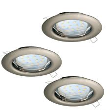 EGLO 94237 PENETO süllyesztett lámpa, matt nikkel színben, MAX 3X3W teljesítménnyel, GU10 foglalattal, kapcsoló nélkül, IP20 védettséggel ( EGLO 94237 ) világítás