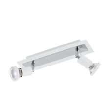 EGLO 94959 SARRIA beltéri spot lámpa, fehér, króm színben, MAX 2X5W teljesítménnyel, GU10 foglalattal, kapcsoló nélkül, IP20 védettséggel ( EGLO 94959 ) világítás