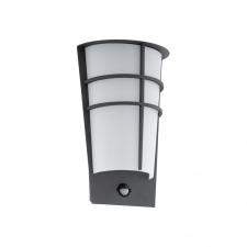 EGLO 96018 BREGANZO 1 kültéri mozgásérzékelős LED fali lámpa, antracit színben, MAX 2X2,5W teljesítménnyel, LED fényforrással, 3000K színhőmérséklettel, mozgásérzékelővel, IP44 ( EGLO 96018 ) kültéri világítás