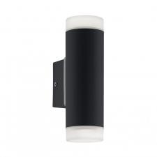 EGLO 96505 RIGA-LED kültéri fali lámpa, fekete színben, MAX 2X5W teljesítménnyel, GU10 foglalattal, kapcsoló nélkül, IP44 védettséggel ( EGLO 96505 ) kültéri világítás