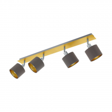 EGLO 97539 VALBIANO beltéri spot lámpa, csiszolt réz, matt nikkel színben, MAX 4X10W teljesítménnyel, E14 foglalattal, kapcsoló nélkül ( EGLO 97539 ) világítás