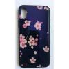 egyéb BH657 Telefon tok BLU-RAY Üveg Full Pink Flower Iphone X