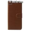egyéb CRAZY notesz tok / flip tok - BARNA - asztali tartó funkciós, oldalra nyíló, rejtett mágneses záródás, bankkártya tartó zsebekkel, szilikon belső - NOKIA 5.1 Plus