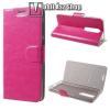 egyéb CRAZY notesz tok / flip tok - RÓZSASZÍN - asztali tartó funkciós, oldalra nyíló, rejtett mágneses záródás, bankkártya tartó zsebekkel, szilikon belső - NOKIA 5.1 Plus