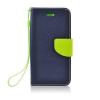 egyéb Fancy Samsung N985 Galaxy Note 20 Plus oldalra nyíló mágneses könyv tok szilikon belsővel kék