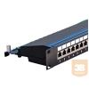 egyéb FTP Cat5e patch panel, 24 portos, fix tehermentesítő tálca