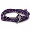 egyéb Horgony Karkötő Fekete Dísszel - Kék/Piros Textil