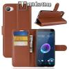 egyéb Notesz tok / flip tok - BARNA - asztali tartó funkciós, oldalra nyíló, rejtett mágneses záródás, bankkártyatartó zseb, szilikon belső - HTC Desire 12