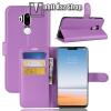 egyéb Notesz tok / flip tok - LILA - asztali tartó funkciós, oldalra nyíló, rejtett mágneses záródás, bankkártyatartó zseb, szilikon belső - LG G7 ThinQ