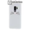egyéb Szilikon védõ tok / hátlap - CICA MINTÁS - FEHÉR - SAMSUNG SM-G965 Galaxy S9+