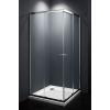 egyéb Szögletes zuhanykabin két tolóajtós, króm kerettel, transparent üveggel 80cm