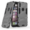 egyéb TRANSFORM mûanyag védõ tok / hátlap - SZÜRKE - szilikon betétes, kitámasztható - ERÕS VÉDELEM! - APPLE iPhone X