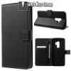 egyéb Wallet notesz / flip tok - FEKETE - oldalra nyíló, rejtett mágneses, álló, asztali tartó funkció, bankkártya tartó, szilikon belsõ - SAMSUNG SM-G965 Galaxy S9+