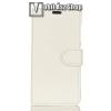 egyéb WALLET notesz tok / flip tok - FEHÉR - asztali tartó funkciós, oldalra nyíló, rejtett mágneses záródás, bankkártyatartó zseb, szilikon belsõ - HUAWEI Honor V10 / HUAWEI Honor View 10