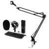 Electronic-Star auna CM001B mikrofon szett V3 kondenzátoros mikrofon, mikrofontartó kar, fekete