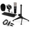 Electronic-Star auna CM003 mikrofon készlet V1, kondenzátoros mikrofon, USB-konverter, mikrofon állvány
