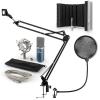 Electronic-Star auna MIC-900BL USB mikrofon szett V5 kondenzátoros mikrofon, pop filter, mikrofonernyő, mikrofon kar, kék