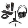 Electronic-Star auna MIC-920B USB mikrofon készlet V1 fülhallgató, kondenzátoros mikrofon, állvány