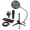 Electronic-Star auna MIC-920B USB mikrofon készlet V2 - kondenzátoros mikrofon, mikrofon állvány, pop szűrő