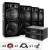 """Electronic-Star DJ komplettset """"Phuket Pulsar Pro"""" 2x erösitő, 4x hangfal"""