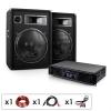 "Electronic-Star DJ PA Komplettset ""Miami Quasar"" Verstärker 2x Boxen"