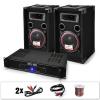 """Electronic-Star DJ PA szett """"DJ-12"""", PA erosíto, hangfalak, 1000 W"""
