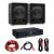 Electronic-Star HiFi erősítő & hangfal szett, 2 x 350 W erősítő, 2 x hangfal, 10