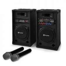 Electronic-Star Karaoke szett STAR-10 hangfalak, vezeték nélküli mikrofonok stúdiótechnika