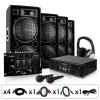 Electronic-Star Komplett DJ szett: PA DJ Erősítő, Hangfal & Mixer szett 200