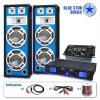 """Electronic-Star PA Szett Blue Star Széria """"Bassveteran"""" 1200 Watt"""