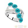 Elegáns köves gyűrű, Kék Zircon, 8