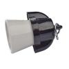 Emos kerámia/műanyag foglalat E27 lengő aljzat (fehér/fekete)