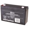 Emos SLA ólomakkumulátor 6V 12Ah F1 (OT12-6) AGM