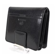 Emporio Valentini Valentini álló fazonú fekete női bőr pénztárca 563182