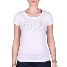 EmporioArmani Női Rövid ujjú T Shirt WOMENS KNIT JERSEY COBALT