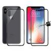 ENKAY elülső és hátsó edzett üveg 3D iPhone X - 0.2mm - fekete