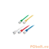 Equip 605660 SFTP patch kábel, Cat6A, 1m, sárga, LSOH, 10Gb