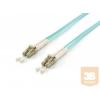 Equip optikai patch kábel LC-LC duplex mm 50/125 OM3 LSOH, 1m
