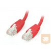 Equip U/UTP Cat6 patch kábel 0.5m piros